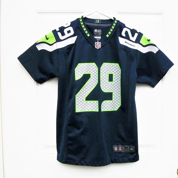 a8c25008 Kids Seattle Seahawks Football Nike Jersey SZ M